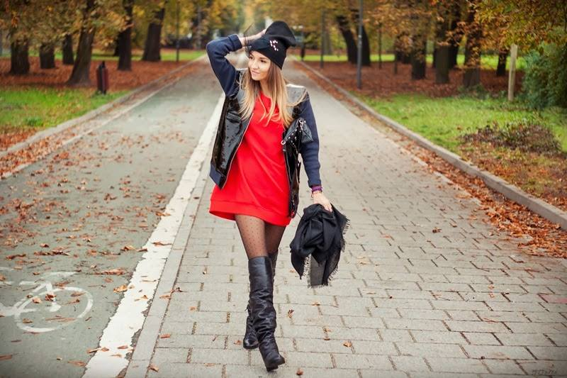 tall boots and dezire pantyhose by fiore hosiery on a model 4