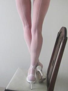 white backseam tights by pamela mann