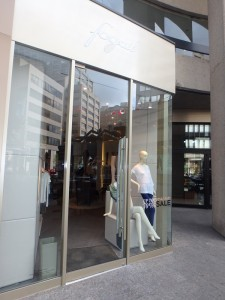 Fogal boutique in Toronto - store front - hosiery shop on Bay Street, Downtown