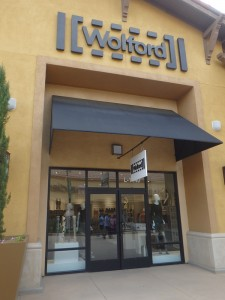 Wolford boutique store front in California, Palm Springs Area - outlet mall - customer service review