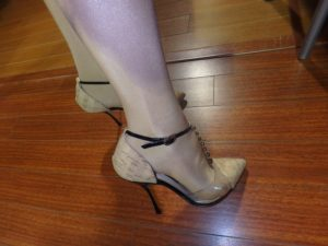 my new cork shoes and wolford pantyhose