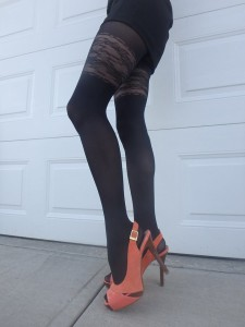 Mirona tights on me glossy Fiore 2