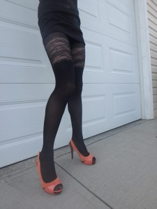 Mirona tights on me glossy Fiore 4