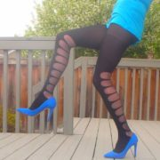 Lorraine by Fiore tights on my legs