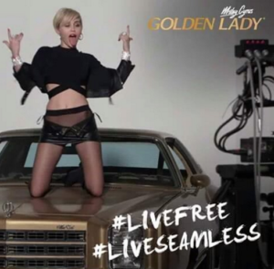 Miley Cyrus for Golden Lady seamless pantyhose