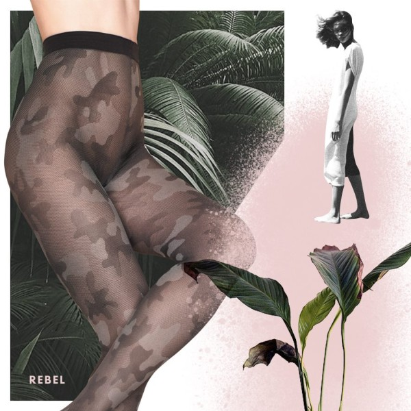 Rebel tights by Fiore camouflage