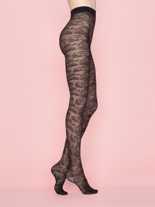 SECRET GARDEN 40 den tights by Fiore with floral all over pattern