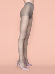 SEMI-SWEET 20 den tights with lurex pattern, stripes