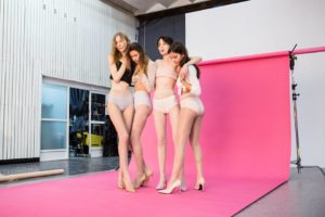 Fiore fashion models at a photoshoot - pantyhose girls