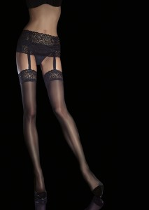 VIONA 40 den suspender tights by Fiore
