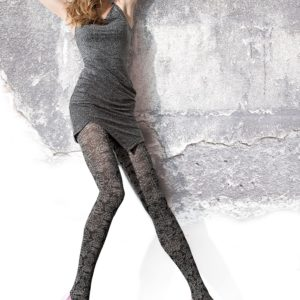 DORIANA 40 den patterned floral tights by fiore hosiery