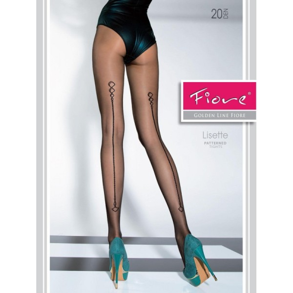 Lisette tights by Fiore hosiery with a backseam