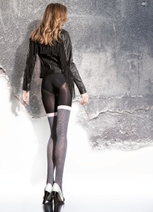 MALORIA 40 den tights by Fiore with mock stocking imitation
