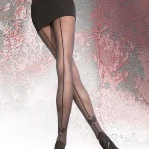 VELLANA 40 den backseam tights by fiore