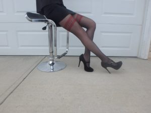 Olbia tights by Fiore on cousin's legs wearing 3