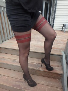Olbia tights by Fiore on cousin's legs wearing 4
