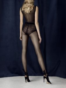 charm-20-den pantyhose with french cut lace panty and sheer leg Fiore
