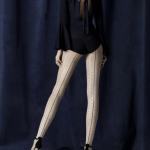 intrigue-20-den backseam dotted tights by Fiore hosiery contrast style