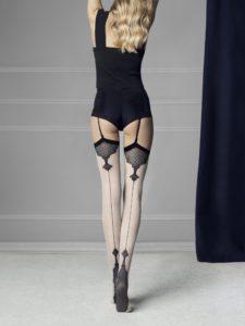 belt stockings, vintage look, pin up