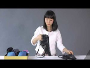 Marie Kondo shows how to fold lingerie in a video.