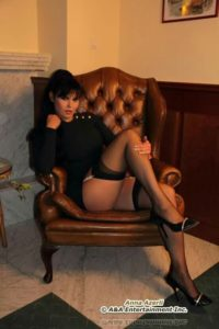 Anna Azelri stockings 9 posing in a fancy chair