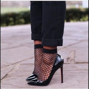 fishnet tights and socks are in fashion for spring 2017 collage