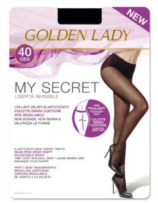 My Secret 40 den Golden Lady Seamless Tights plus size