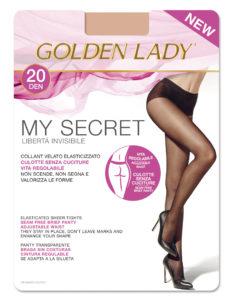 seamless pantyhose golden lady my secret 20 den cover