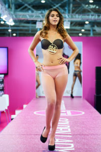 golden lady seamless pantyhose fashion show models on the runway pink tights 2