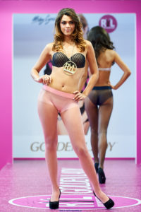 golden lady seamless pantyhose fashion show models on the runway pink tights