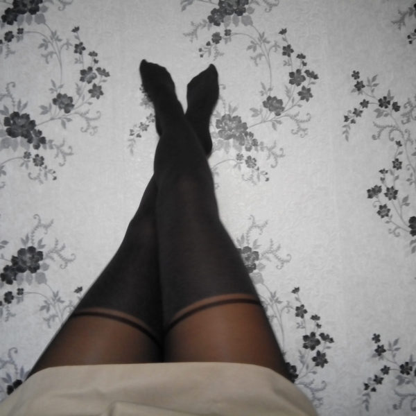 Carola tights by Fiore on Julia's legs melange 2
