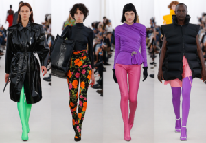Balenciaga tights and shoe pants on the runway Paris Fashion Week