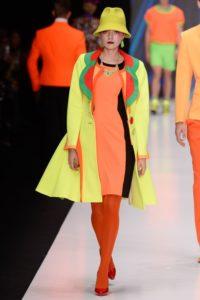Slava Zaitsev Spring 2017 collection Russian neon colours