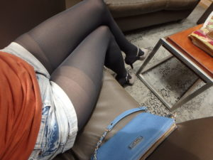 pantyhose from Taiwan on my legs