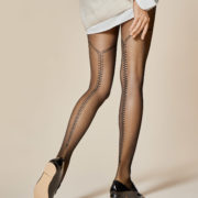 FIDELE 20 den 1 zipper pattern pantyhose by Fiore