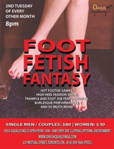 foot fetish flyer
